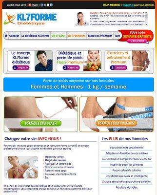 Vous souhaitez perdre du poids en pleine forme? Connectez-vous d�s maintenant sur le site professionnel de KL7FORME DIETETIQUE